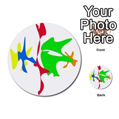 Colorful amoeba abstraction Multi-purpose Cards (Round)