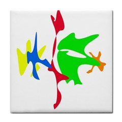 Colorful amoeba abstraction Face Towel