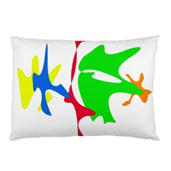 Colorful amoeba abstraction Pillow Case