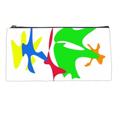Colorful amoeba abstraction Pencil Cases