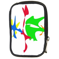 Colorful amoeba abstraction Compact Camera Cases
