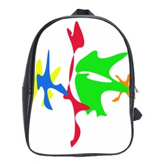 Colorful amoeba abstraction School Bags(Large)