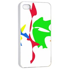 Colorful amoeba abstraction Apple iPhone 4/4s Seamless Case (White)