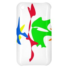 Colorful amoeba abstraction Apple iPhone 3G/3GS Hardshell Case