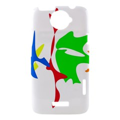 Colorful amoeba abstraction HTC One X Hardshell Case