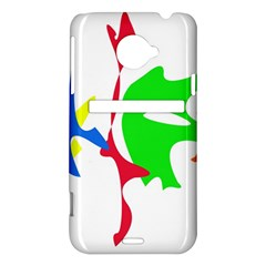 Colorful amoeba abstraction HTC Evo 4G LTE Hardshell Case