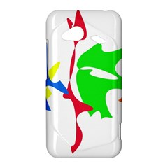 Colorful amoeba abstraction HTC Droid Incredible 4G LTE Hardshell Case