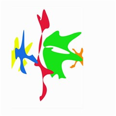 Colorful amoeba abstraction Large Garden Flag (Two Sides)