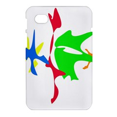 Colorful amoeba abstraction Samsung Galaxy Tab 7  P1000 Hardshell Case