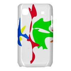 Colorful amoeba abstraction Samsung Galaxy SL i9003 Hardshell Case