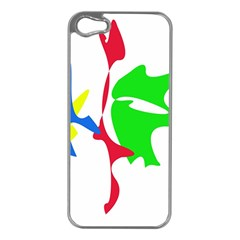 Colorful amoeba abstraction Apple iPhone 5 Case (Silver)