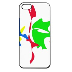 Colorful amoeba abstraction Apple iPhone 5 Seamless Case (Black)