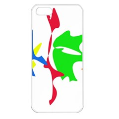 Colorful amoeba abstraction Apple iPhone 5 Seamless Case (White)
