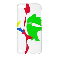 Colorful amoeba abstraction Apple iPod Touch 5 Hardshell Case
