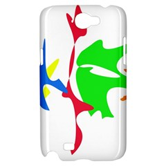 Colorful amoeba abstraction Samsung Galaxy Note 2 Hardshell Case