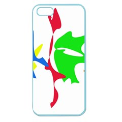 Colorful amoeba abstraction Apple Seamless iPhone 5 Case (Color)