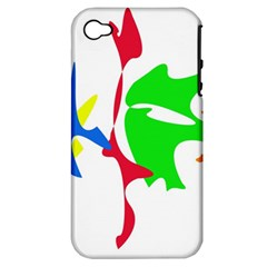 Colorful amoeba abstraction Apple iPhone 4/4S Hardshell Case (PC+Silicone)
