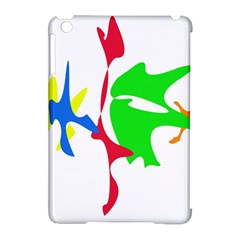 Colorful amoeba abstraction Apple iPad Mini Hardshell Case (Compatible with Smart Cover)