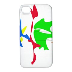 Colorful amoeba abstraction Apple iPhone 4/4S Hardshell Case with Stand
