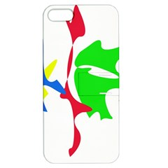 Colorful amoeba abstraction Apple iPhone 5 Hardshell Case with Stand