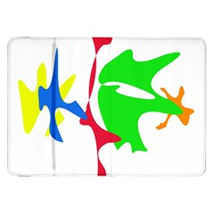 Colorful amoeba abstraction Samsung Galaxy Tab 8.9  P7300 Flip Case