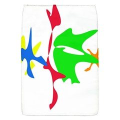 Colorful amoeba abstraction Flap Covers (S)