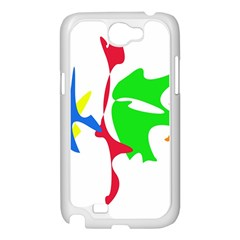 Colorful amoeba abstraction Samsung Galaxy Note 2 Case (White)
