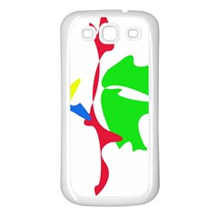 Colorful amoeba abstraction Samsung Galaxy S3 Back Case (White)