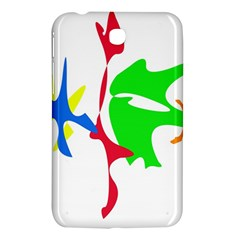 Colorful amoeba abstraction Samsung Galaxy Tab 3 (7 ) P3200 Hardshell Case