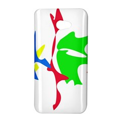 Colorful amoeba abstraction HTC Butterfly S/HTC 9060 Hardshell Case