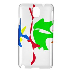 Colorful amoeba abstraction Samsung Galaxy Note 3 N9005 Hardshell Case