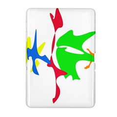 Colorful amoeba abstraction Samsung Galaxy Tab 2 (10.1 ) P5100 Hardshell Case