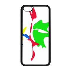 Colorful amoeba abstraction Apple iPhone 5C Seamless Case (Black)