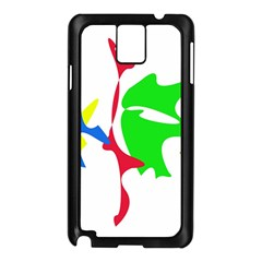 Colorful amoeba abstraction Samsung Galaxy Note 3 N9005 Case (Black)