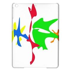 Colorful amoeba abstraction iPad Air Hardshell Cases
