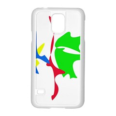 Colorful amoeba abstraction Samsung Galaxy S5 Case (White)