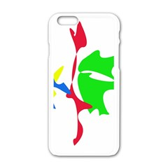 Colorful amoeba abstraction Apple iPhone 6/6S White Enamel Case