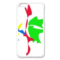 Colorful amoeba abstraction Apple iPhone 6 Plus/6S Plus Enamel White Case