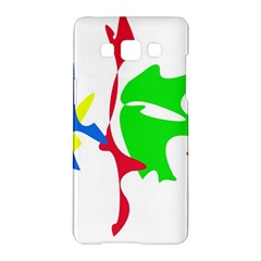 Colorful amoeba abstraction Samsung Galaxy A5 Hardshell Case