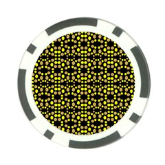 Dots Pattern Yellow Poker Chip Card Guards