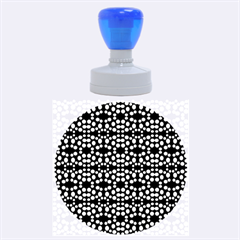 Dots Pattern Yellow Rubber Round Stamps (Large)