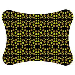 Dots Pattern Yellow Jigsaw Puzzle Photo Stand (Bow)