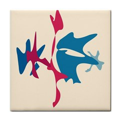 Decorative amoeba abstraction Tile Coasters