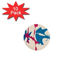 Decorative amoeba abstraction 1  Mini Buttons (10 pack)