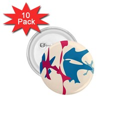 Decorative amoeba abstraction 1.75  Buttons (10 pack)