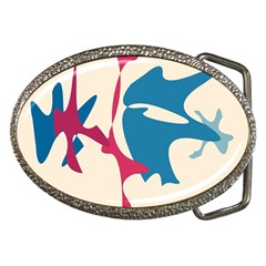 Decorative amoeba abstraction Belt Buckles