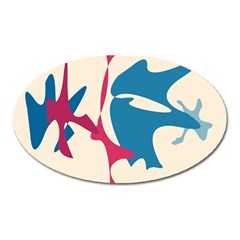 Decorative amoeba abstraction Oval Magnet