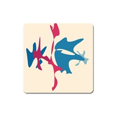 Decorative amoeba abstraction Square Magnet