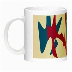 Decorative amoeba abstraction Night Luminous Mugs