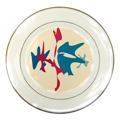 Decorative amoeba abstraction Porcelain Plates